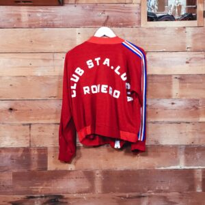 1980's Soccer Jacket Embrodery Letter patch Handsewing